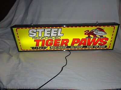 Large Uniroyal Tire Paws lighted advertising sign Old Gas Station Tires Sign