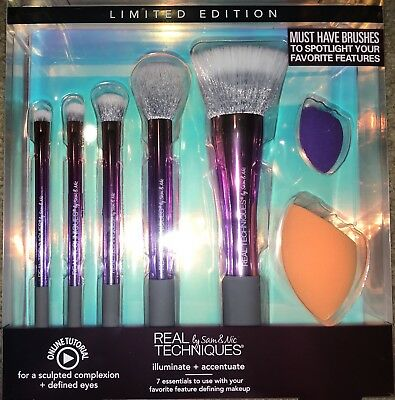 Real Techniques Brushes illuminate & accentuate , NEW , RRP £40