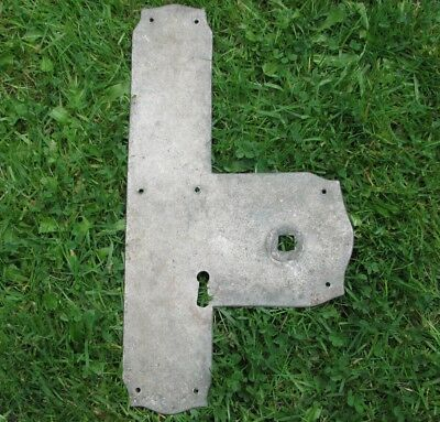 Old Iron Door Finger Push Plate with space for Door Knob / Handle and Key Hole