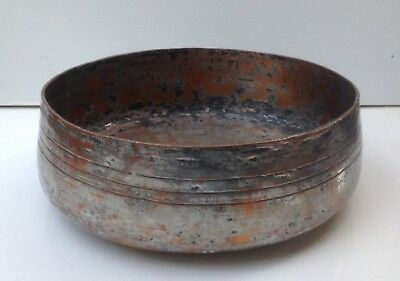 Antique Turkish Ottoman Islamic Copper Bowl Middle Eastern