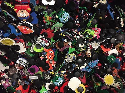 50x Mixed Boys Character Shoe Charms Wristband Fit Croc Shoes