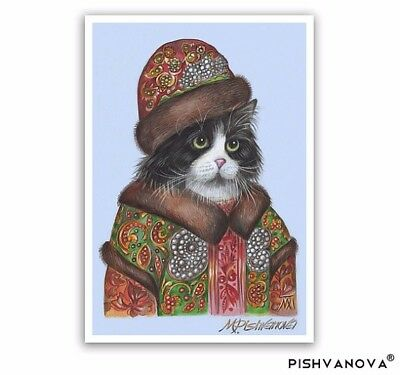 The Cat Tsar - Cat Art Print - Cats in Clothes, Cute Cat Paintings - Persian Cat