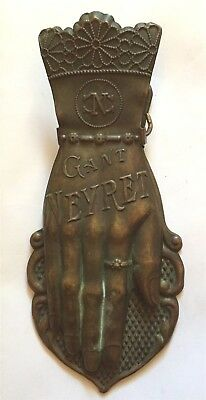 Art Deco French GANT NEYRET Glove Hand Brass Adv Glove Letter Holder VERY RARE
