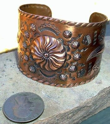 Old, Solid Copper, Route 66 Trading Post Era, Cuff Bracelet. Gorgeous!!!
