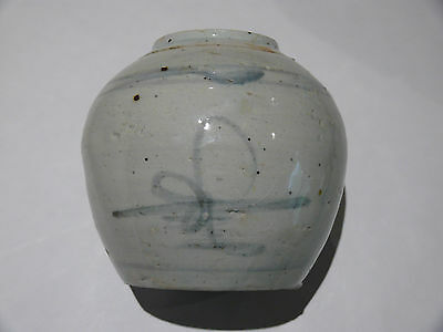 ANTIQUE CHINESE Blue & White GINGER JAR 18th to early 19th Century