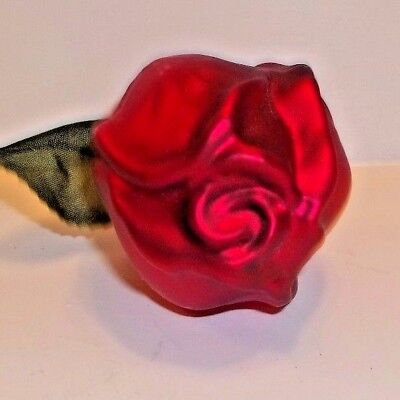 Old World Christmas German Glass Ornament House Clip on Red Rose- 1994-1999