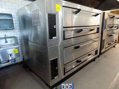 Marsal & Sons Double Stack Pizza Oven, Model No. Sd 10866, Gas Fired,