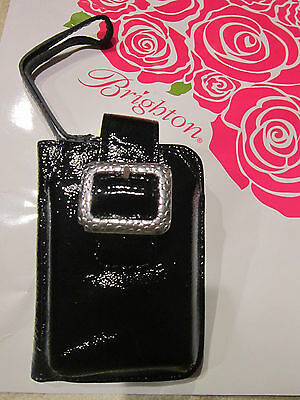 BRIGHTON NWT $70 Black Pebble Leather ID Phone Credit Card Case Wristlet