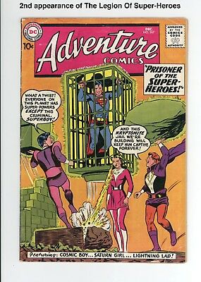 ADVENTURE COMICS #267 - 2nd LEGION OF SUPER-HEROES! 1959 - UNRESTORED & COMPLETE