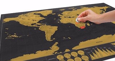 Scratch Off World Map Travel Deluxe Edition