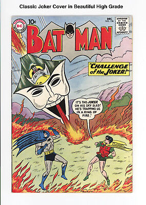 Batman #136 - Unrestored Beautiful High Grade Vf 8.0 - Joker Cover! 1960