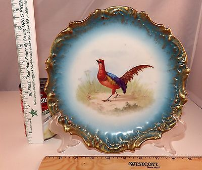 L S & S Limoges France Signed Hand Painted Pheasant Bird Collector Plate