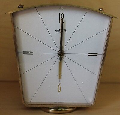 Jeager Lecoultre Lic Ato Clock Bronze Brass Electronic Vintage Mid Century
