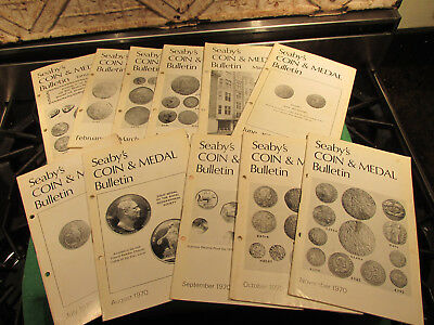 Seaby's Bulltin England Numismatic Magazine Coin Book World And Ancient 1970 Lot