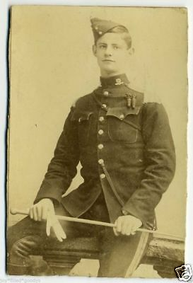 OUTSTANDING REGIMENT 16th THE QUEEN'S LANCERS BOER WAR SOLDIER TRIMMED CAB PHOTO