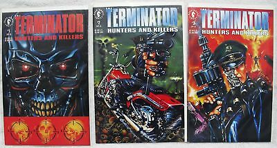 Terminator Hunters and Killers Comic full set 1-2-3 Lot NM New Bagged & Boarded