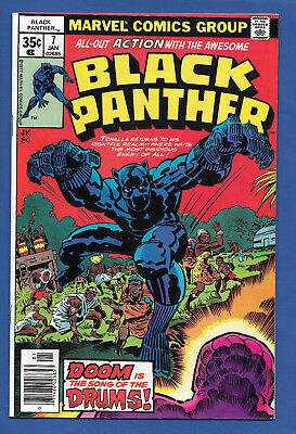 Black Panther #7 (VF/NM) 1978, Retells Origin, Jakarra, Kirby Story/Art,