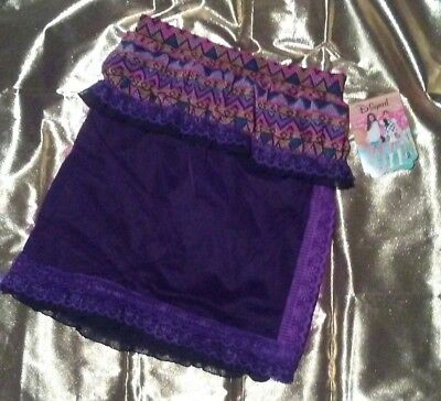 DISNEY Upcycled Lace Tribal Skirt Girls Size 14/16 (waist size 26 to 30 inches)