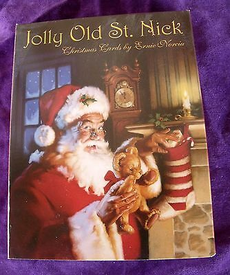 New Orig Pkge LEANIN' TREE 12 Christmas Cards Env Jolly Old St Nick Santa Claus