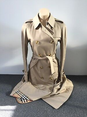 BURBERRY's $2950 Prorsum Label Trench Coat Size US 10 UK 12 AUS 12 + wool liner!