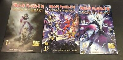 3x IRON MAIDEN LEGACY OF THE BEAST 1; A CASAS B ROYO C CASAS VARIANT Heavy Metal
