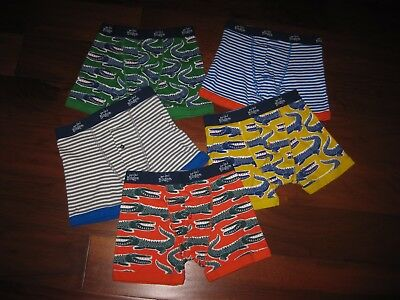 LOT of 5 Pair Mini Boden Boxers - Size 7-8 - Worn Once !!!