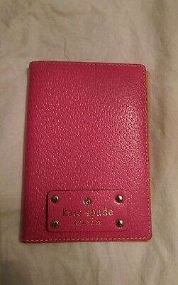 Kate Spade Pink Leather Passport Holder Case NEW