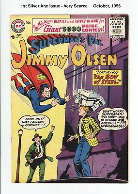 SUPERMAN'S PAL JIMMY OLSEN #16 - SCARCE 1st SILVER AGE ISSUE! - F/VF 7.0  1956