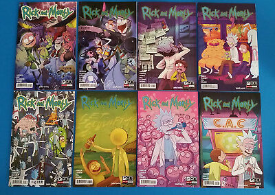 Rick and Morty #8 9 10 11 12 13 14 15 (NM) Complete Variant Set, 1st Prints, Oni