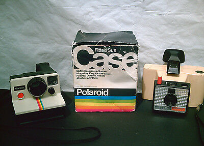 POLAROID LAND CAMERA BOX LOT Instant Photo OneStep! Swinger 20! 600 Series Case!