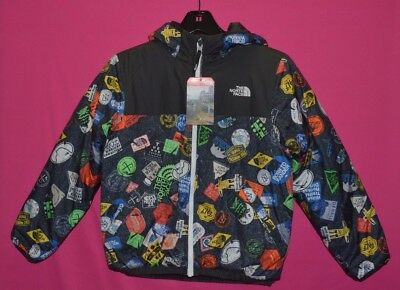 The North Face Boy's Reversible Perrito Jacket Heatseeker Black M 10/12 New