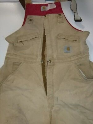 Carhartt Well Worn Distressed Insulated Coveralls Size 32/30