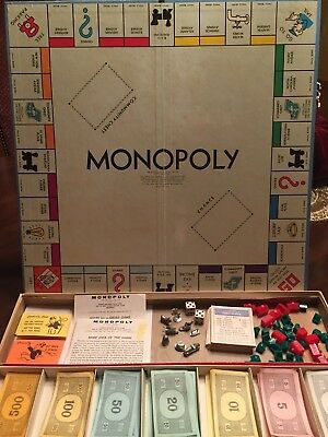 Vintage 1964 Parker Brothers Monopoly Board Game Box No. 9