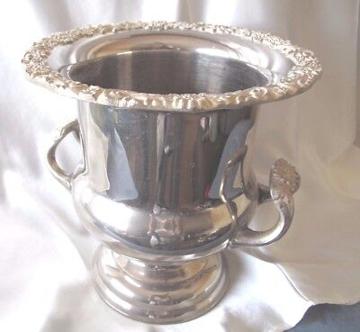 Large White Metal Champagne Ice Bucket