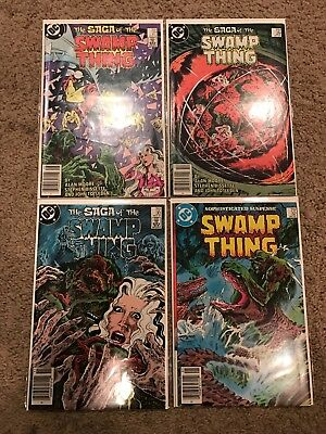 dc the saga of swamp thing by alan moore 27 29 30 32 vf-nm