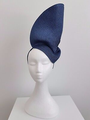 Miss Luna womens fashion sculptued headband fascinator in Navy, Ivory, Green