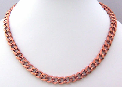 """NEW PURE Copper 18"""" curb chain link  Necklace Pain relief folklore CN 016"""