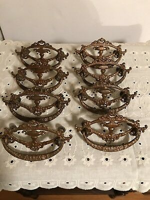 Victorian Brass Drawer Pulls Handles Set Of 8 BEAUTIFUL!