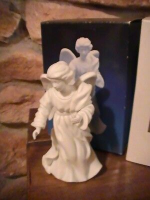 Christmas Avon Collectible Porcelain Nativity 1987 Standing Angel Original Box