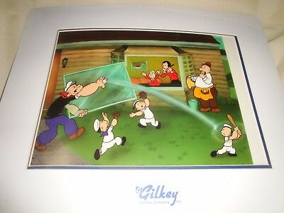 "1999 Popeye "" Nice Catch "" Toon Art King Features Edition Lithocel 240/7500"