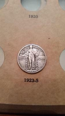 1923-S Standing Liberty Quarter 25c  - Key Date - Strong XF