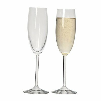NEW Ecology Champagne Flute Glasses 175ml Set of 6