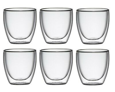Classica Barista Double Wall Espresso Glasses 6pc
