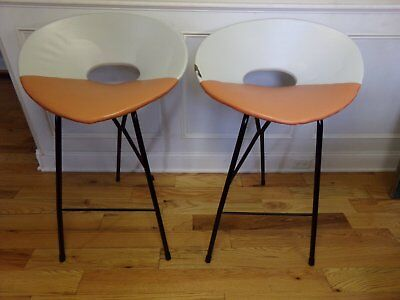 Vintage Mid Century Joal Style Stools  Set Of 2  Pick-Up Only!!
