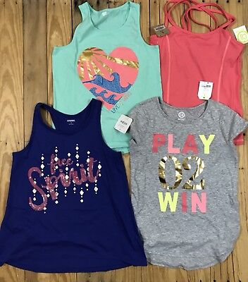 Girls Lot, 4 Pieces, Tops, Size 10-12, Crazy 8, C8 Active