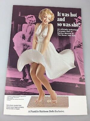 Marilyn Monroe Brochure - Franklin Mint - Came With Marilyn Statue