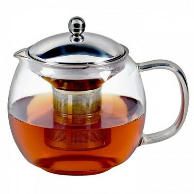 NEW Avanti Ceylon Glass Teapot with Infuser 1.25L 6 Cup