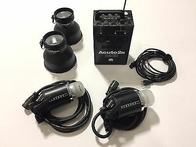 Profoto Acute 2R 2400ws with 2 Acute D4 Flash Heads