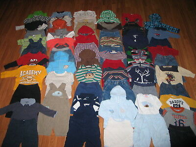 HUGE Lot Baby Boys Fall Winter Clothes Size Sz 6-9 Months Gap Old Navy TCP