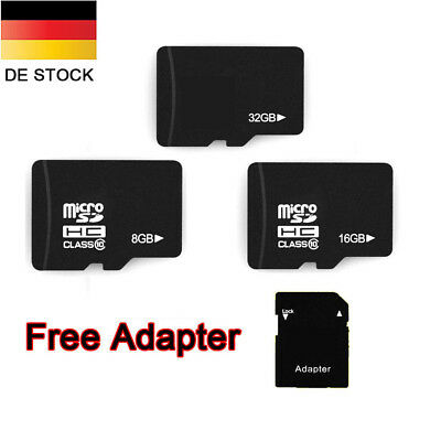8GB/16GB/32GB Micro SDHC Speicherkarte + Adapter Class10 TF Flash Memory Card